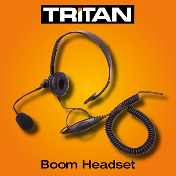 Picture of Tritan Lightweight Boom Headset With Mic & Inline PTT For Tritan Models (K1)