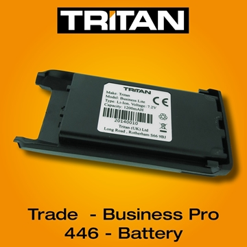 Picture of Tritan Business Pro, City Traveller & PMR446 Lithium-Ion 1200MAH Battery Pack