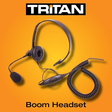 Picture of Tritan DMR Lightweight Boom Headset With Inline PTT