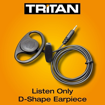 Picture of Tritan DMR Listen Only D-Shape Earpiece