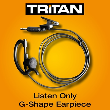 Picture of Tritan DMR Listen Only G-Shape Earpiece With Mic & PTT