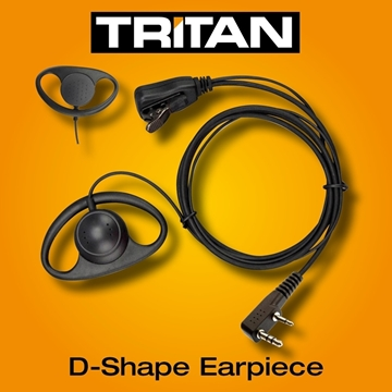 Picture of Tritan DMR D-Shape Earpiece with Mic & PTT