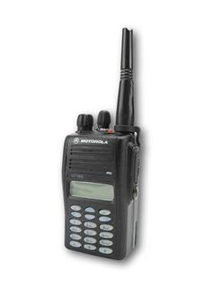 Picture of Motorola GP388 UHF Walkie-Talkie Two Way Radio (Refurbished) & New Speaker Mic