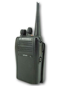 Picture of Motorola GP644 UHF Walkie-Talkie Two Way Radio (Refurbished) & New G-Shape Earpiece with Mic & PTT