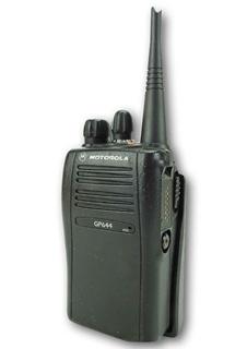 Picture of Motorola GP644 UHF Walkie-Talkie Two Way Radio (Refurbished) & New D-Shape Earpiece with Mic & PTT