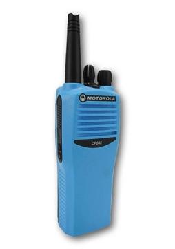 Picture of Motorola CP040 UHF Blue Walkie-Talkie Two Way Radio (Refurbished)