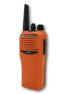 Picture of Motorola CP040 UHF Orange Walkie-Talkie Two Way Radio (Refurbished)