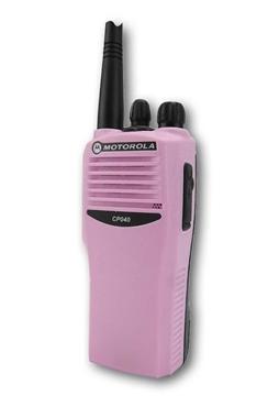 Picture of Motorola CP040 UHF Pink Walkie-Talkie Two Way Radio (Refurbished)