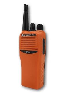 Picture of Motorola CP040 VHF Orange Walkie-Talkie Two Way Radio (Refurbished)