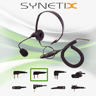 Picture of Anytone Lightweight Headset with Boom Mic & Inline PTT (K1) - By Radioswap