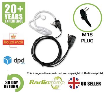 Picture of COVERT EARPIECE WITH MIC & PTT FITS HYT TWO WAY RADIO TC610 TC620 (RS-ACC-M1S)