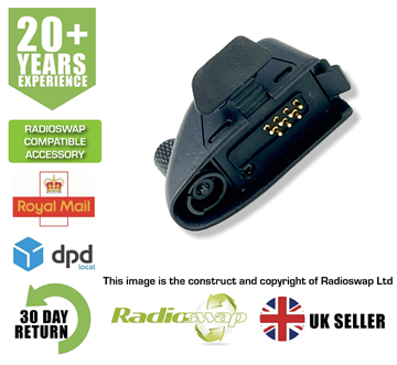 Picture of AUDIO ADAPTER FITS MOTOROLA TWO WAY RADIO CONVERTS GP340 TO TWO PIN (RS-M5-2PIN)