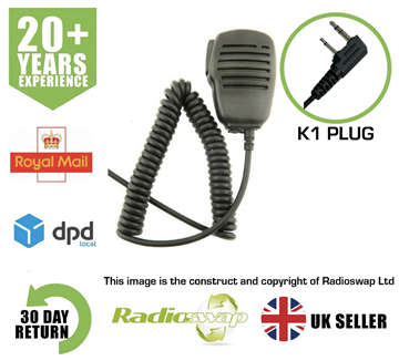 Picture of SPEAKER MIC WITH EARPIECE SOCKET FITS KENWOOD (TWO PIN) TWO WAY RADIO (RS-SP-K1)