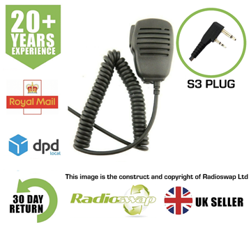Picture of SPEAKER MIC WITH EARPIECE SOCKET FITS ICOM (TWO PIN) TWO WAY RADIO (RS-SP-S3)